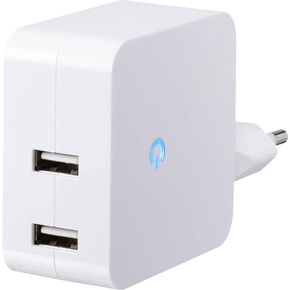 USB-polnilna vtičnica VOLTCRAFT SPS-2400/2+WH izhodni tok (maks.) 4800 mA 2 x USB