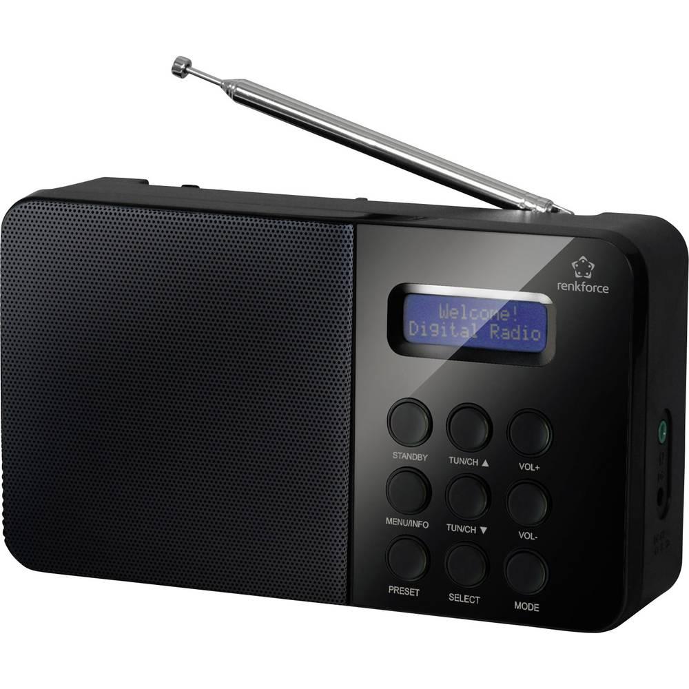 DAB+ Radio renkforce NE-6208 prenosni, črna