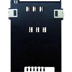 SIM Kort-sokkel Antal kontakter: 6 Skub , Skub Yamaichi FMS006Z-2000-0 1 stk