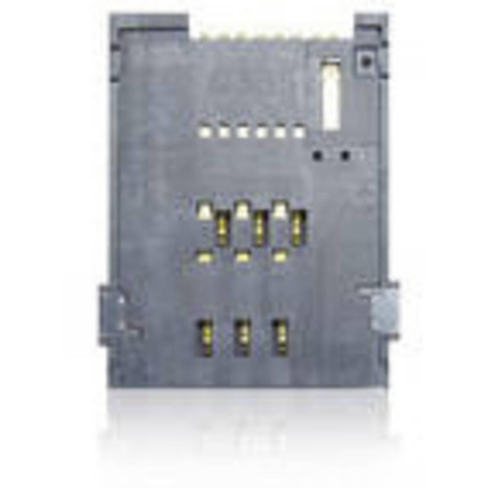 Podnožje za SIM kartico, št. kontaktov: 4 + 2 potisno, potisno Yamaichi FMS006Z-2101-0 vklj. stikalo 1 kos