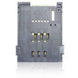 SIM Kort-sokkel Antal kontakter: 4 + 2 Skub , Skub Yamaichi FMS006Z-2101-0 Inkl. kontakt 1 stk