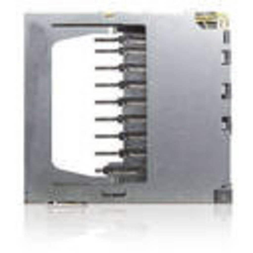 SD, MMC Kort-sokkel Antal kontakter: 9 Skub , Skub Yamaichi FPS009-2305-0 Inkl. kontakt 1 stk