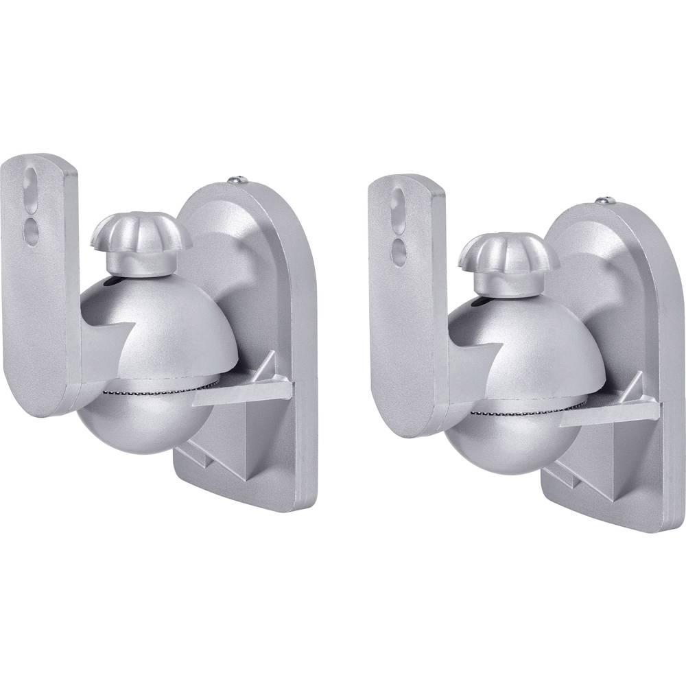 Zidni držač za zvučnike SpeaKa Professional nagibni+okretni, razmak od zida (maks.): 6,4 cm, srebrna, 1 par