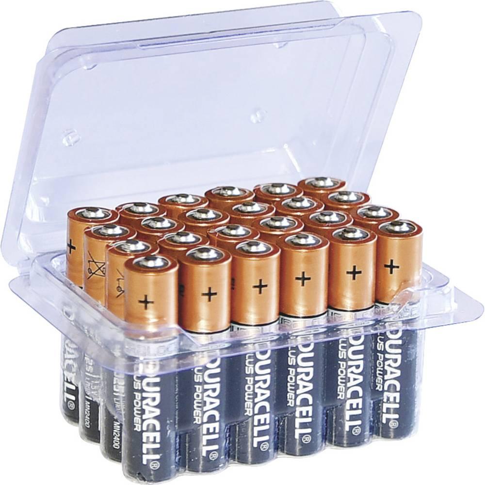 Micro (AAA)-baterije alkalijske-mangan Duracell Plus LR03 Box 1.5 V 24 kos
