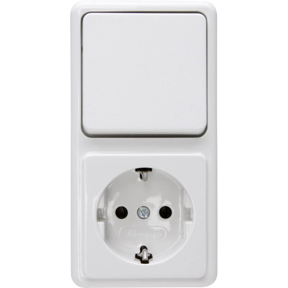Kombinacija prekidač/utičnice 108802007 Kopp standard za zid arktički bijela