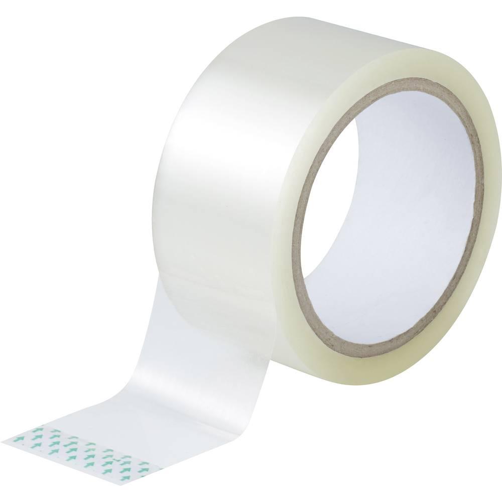 Ljepljiva traka za pakiranje TOOLCRAFT prozirna (D x Š) 50 m x 48 mm akril sadržaj: 1 rola