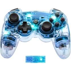 Handkontroll Manette sans fil Afterglow bleu PlayStation 3, PC Transparent, Blå