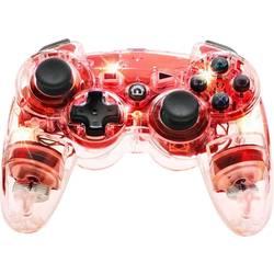 Handkontroll Manette sans fil Afterglow rouge PlayStation® 3, PC Transparent, Röd
