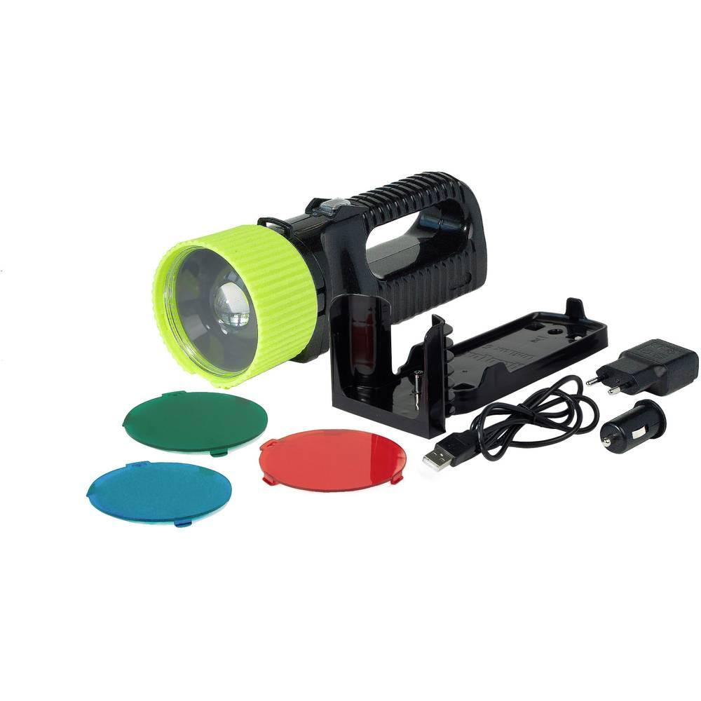 LED džepna svjetiljka AccuLux UniLux Pro crna, zelena, LED stupanj 1/stupanj 2: 35h/6h