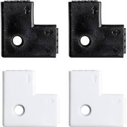 L-spojnica YourLED 70599 Paulmann bijela, crna, plastika oprema za dekorativnu rasvjetu komplet od 4 komada
