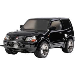 RC-modelbil 1:10 Tamiya Mitsubishi Pajero Lowrider Black Brushed Elektronik Vejmodel 4WD Byggesæt