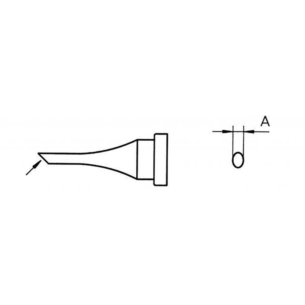 Spajkalna konica, prirezana Weller LT 4 dolžina konice 15 mm vsebuje 1 kos