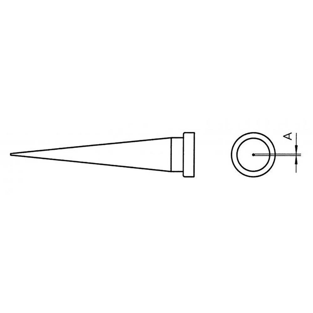Spajkalna konica v obliki stožca Weller LT T dolžina konice 13 mm vsebuje 1 kos