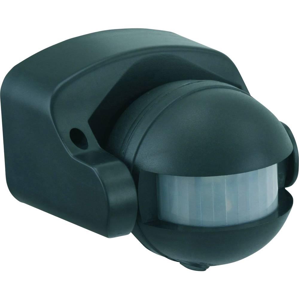 Nadometni, stenski PIR-senzor gibanja GAO 658 180 ° črne barve IP44