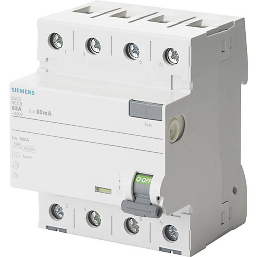 FID zaščitno stikalo 4-polno 63 A 0.1 A 400 V Siemens 5SV3446-6
