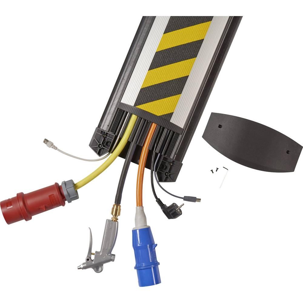 Talna zaščita za kable EasyLoader Max VD (D x Š x V) 1500 x 250 x 24 mm črne barve, rumene barve Serpa vsebuje: 1 kos