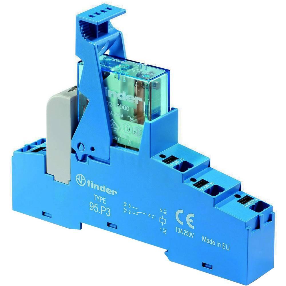 Relækomponent 1 stk Finder 48.P3.7.024.0050 Nominel spænding: 24 V/DC Brydestrøm (max.): 10 A 1 x skiftekontakt