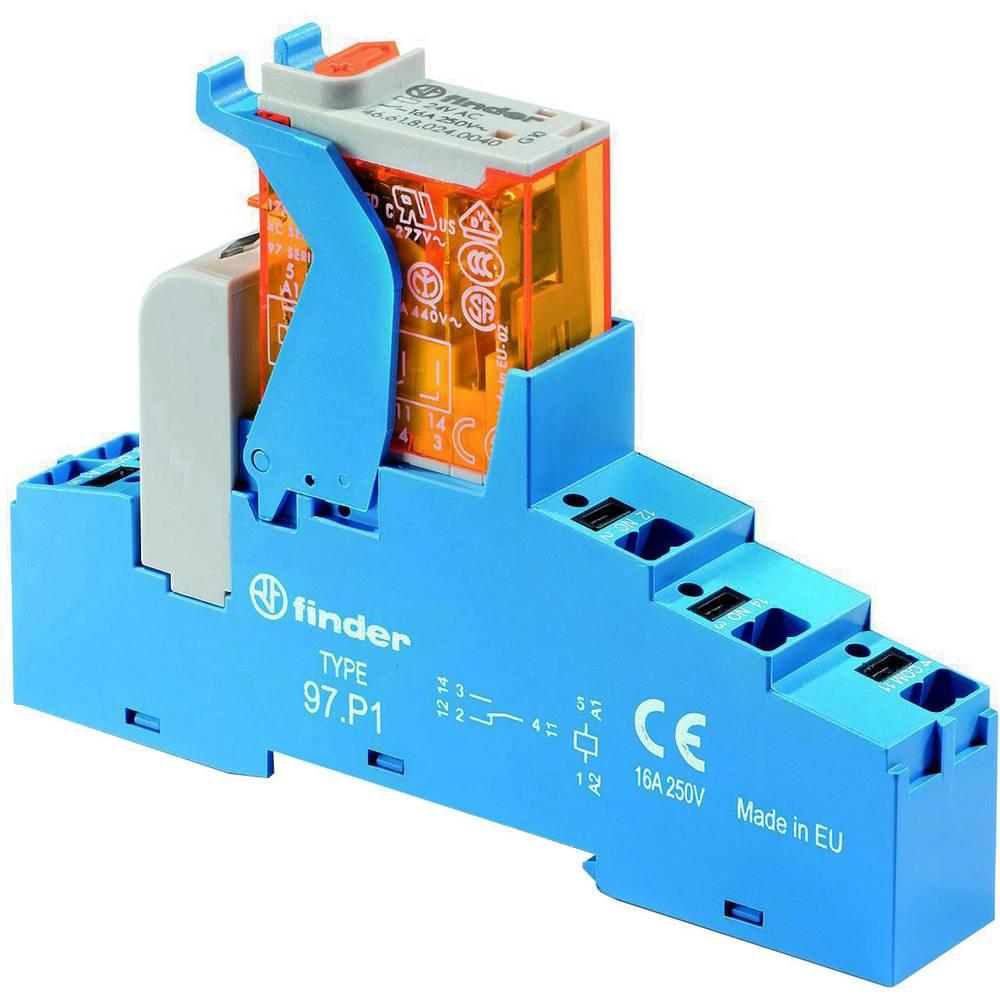 Relækomponent 1 stk Finder 4C.P1.8.024.0060 Nominel spænding: 24 V/AC Brydestrøm (max.): 16 A 1 x skiftekontakt