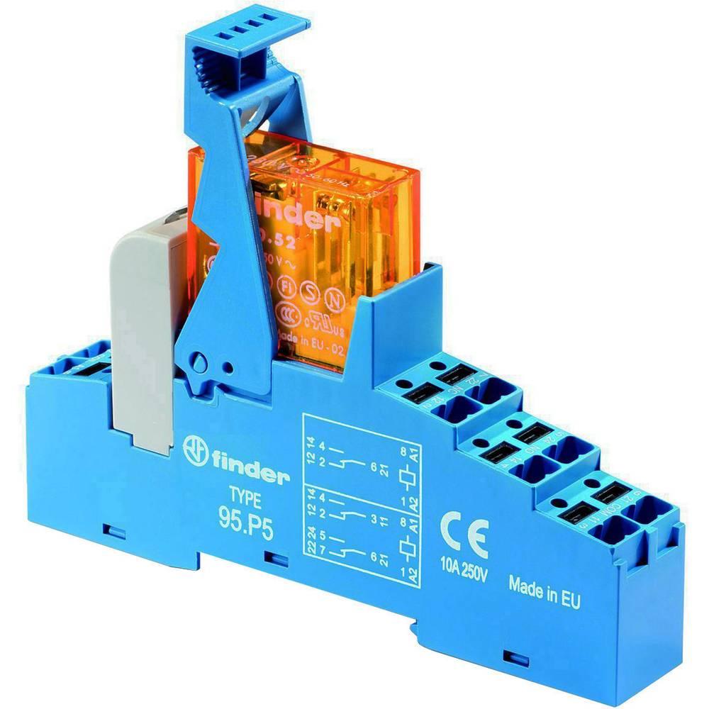 Relækomponent 1 stk Finder 48.P6.7.012.0050 Nominel spænding: 12 V/DC Brydestrøm (max.): 16 A 1 x skiftekontakt