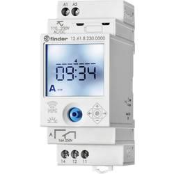 Digitalni vremenski uklopni sat, tjedni program, serija 12 Finder 12.61.8.230.0000 90 - 264 V DC/AC 1 preklopni 16 A 250 V/AC 75