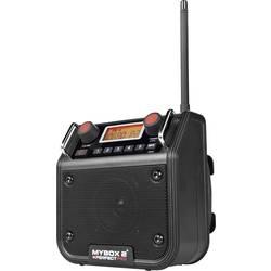 FM Byggradio PerfectPro Mybox 2 AUX, FM Svart
