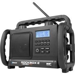 DAB+ Radio til byggepladsen PerfectPro Rockbox 2 Sort