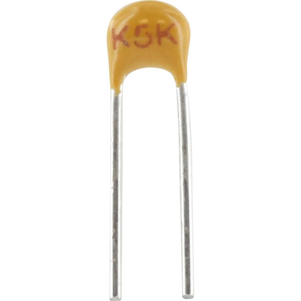 Keramički kondenzator, radijalno ožičen 220 pF 100 V 5 % (D x Š x V) 3.81 x 2.54 x 3.14 mm Kemet C315C221J1G5TA+ 1 kom.