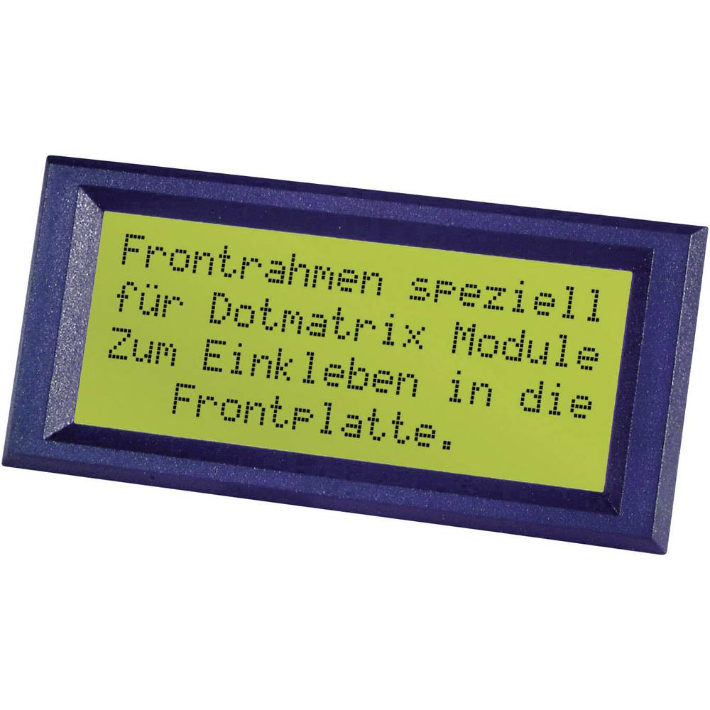Frontramme Sort Passer til: LC-Display 20 x 2 (value.1347673) (B x H) 98 mm x 30 mm ABS FRONTRAHMEN 2X20 INCL.K.-SCHEIBE