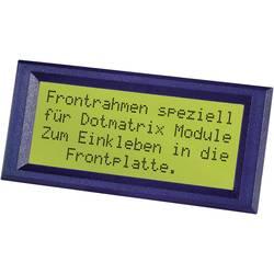 Frontramme Sort Passer til: LC-display 20 x 2 (B x H) 98 mm x 30 mm ABS FRONTRAHMEN 2X20 INCL.K.-SCHEIBE