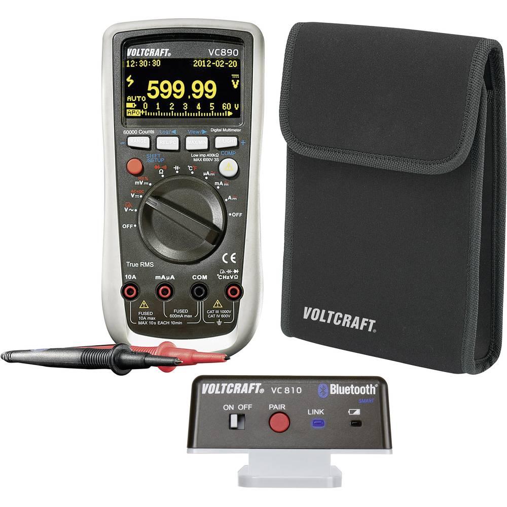 Ročni multimeter, digitalni VOLTCRAFT VC890 OLED kalibracija narejena po: delovnih standardih, OLED-zaslon, zapisovalnik podatko