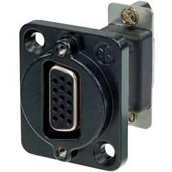 D-SUB adapter D-SUB-vtičnica 15-polna - D-SUB-vtičnica 15-polna Neutrik NADB15FF-B 1 kos