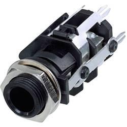 Klinken vtični konektor, 6.35 mm vtičnica, vgradna, pokončna, št. polov: 5 stereo, črne barve Rean AV RJ5VI-CON 1 kos