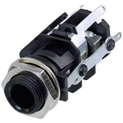 Klinken vtični konektor, 6.35 mm vtičnica, vgradna, pokončna, št. polov: 5 stereo, črne barve Rean AV RJ5VI-S-CON 1 kos