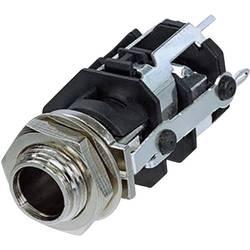 Klinken vtični konektor, 6.35 mm vtičnica, vgradna, pokončna, št. polov: 5 stereo, črne barve Rean AV RJ5VM-D1-CON 1 kos