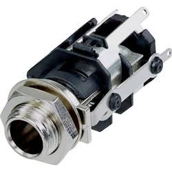 Klinken vtični konektor, 6.35 mm vtičnica, vgradna, pokončna, št. polov: 5 stereo, črne barve Rean AV RJ5VM-S-CON 1 kos