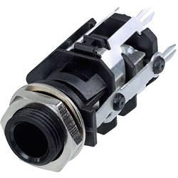 Klinken vtični konektor, 6.35 mm vtičnica, vgradna, pokončna, št. polov: 5 stereo, črne barve Rean AV RJ5VI-D1-CON 1 kos