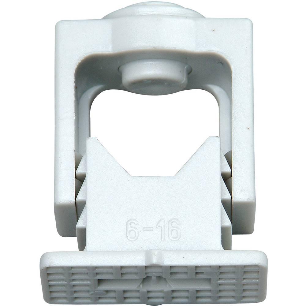 Komplet hvatnih izolacijskih držača kablova 341704089 Kopp 6-16 mm, siva, sadržaj: 10 kom.