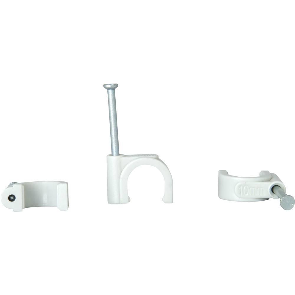 Komplet držača kabla s čavlom 342704080 Kopp 7 - 11 mm siva sadržaj: 50 kom.