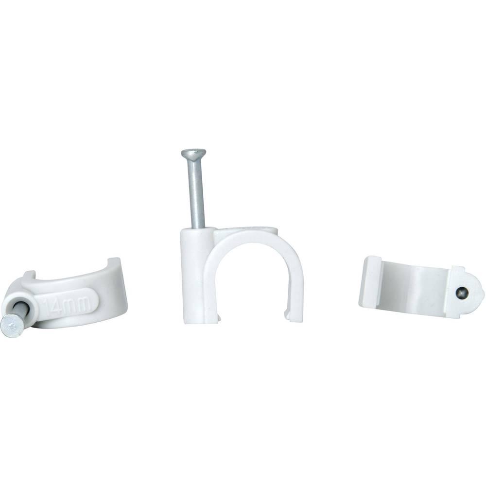 Komplet držača kabla s čavlom 347804088 Kopp 10 - 14 mm siva sadržaj: 50 kom.