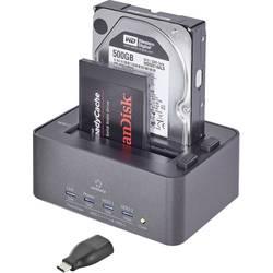USB 3.0 SATA 2 vhodna polnilna postaja za trdi disk z USB tipa C™ Adapter Renkforce 2539 s funkcijo kloniranja, s funkcijo