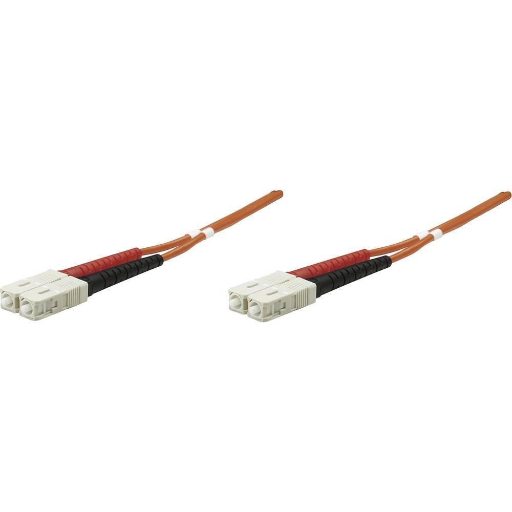 Intellinet steklena vlakna lwl priključni kabel [1x moški konektor sc - 1x moški konektor sc] 50/125 µ Multimode OM2 3.00