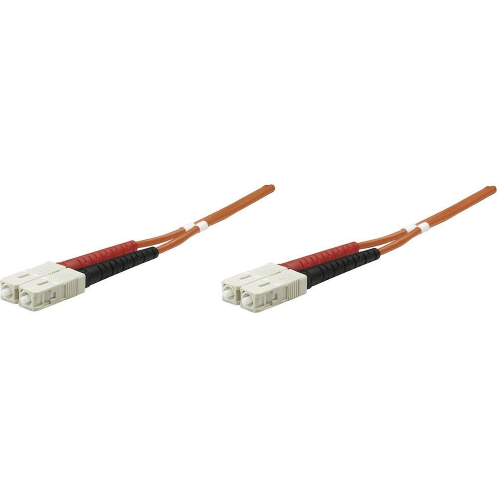 Priključni kabel iz optičnih vlaken [1x SC-vtič - 1x SC-vtič] 50/125µ multi-način OM2 5 m Intellinet