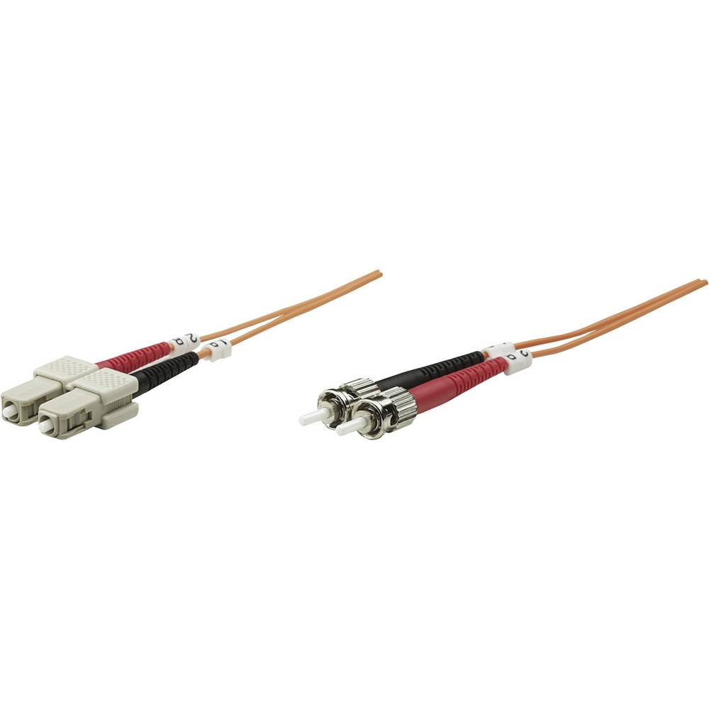 Priključni kabel iz optičnih vlaken [1x ST-vtič - 1x SC-vtič] 50/125µ multi-način OM2 2 m Intellinet