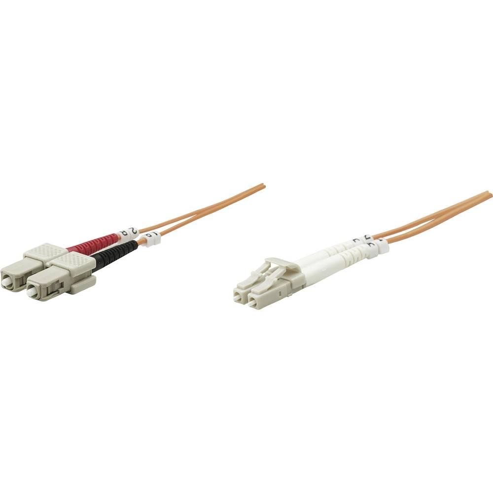 Priključni kabel iz optičnih vlaken [1x LC-vtič - 1x SC-vtič] 50/125µ multi-način OM2 5 m Intellinet
