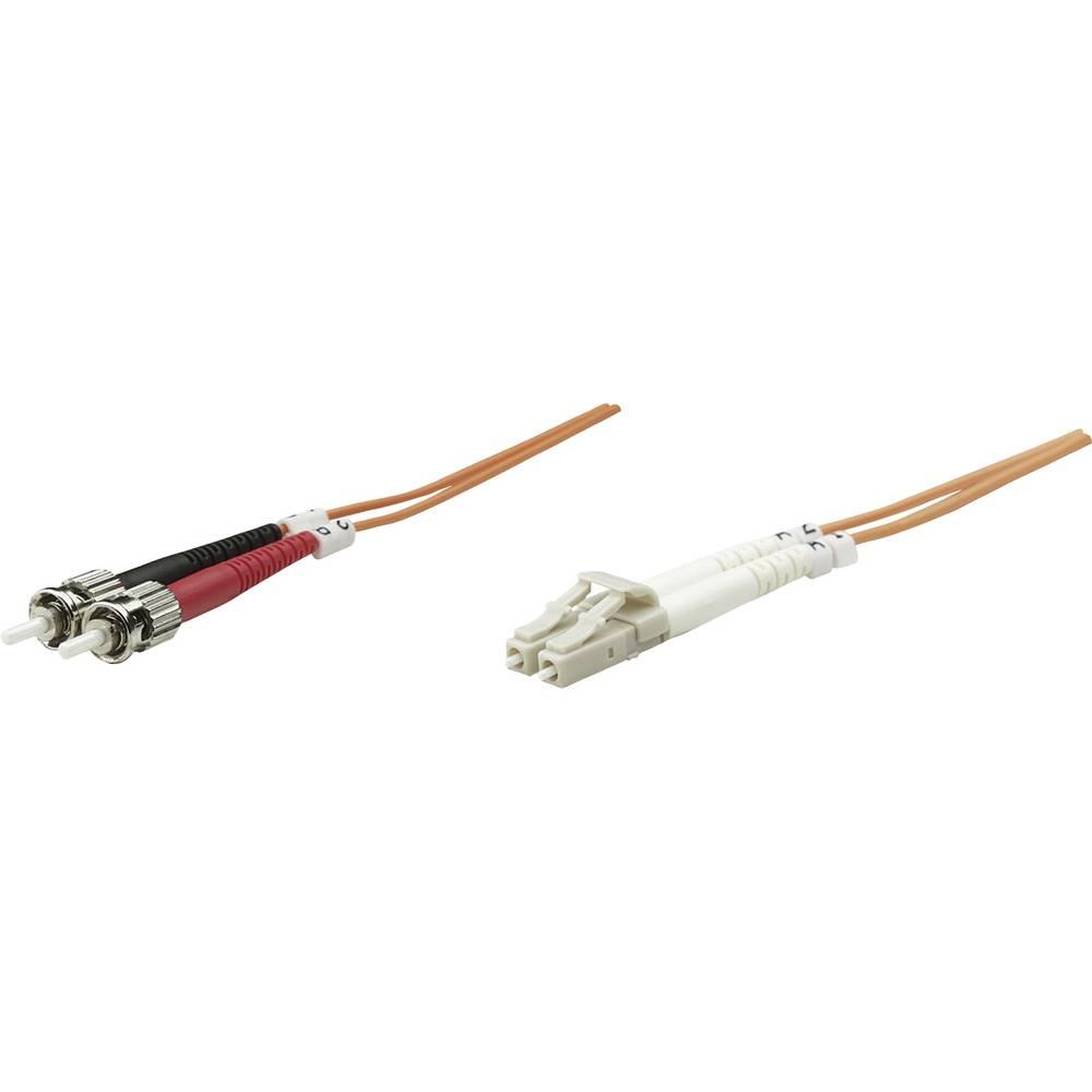 Priključni kabel iz optičnih vlaken [1x LC-vtič - 1x ST-vtič] 50/125µ multi-način OM2 1 m Intellinet