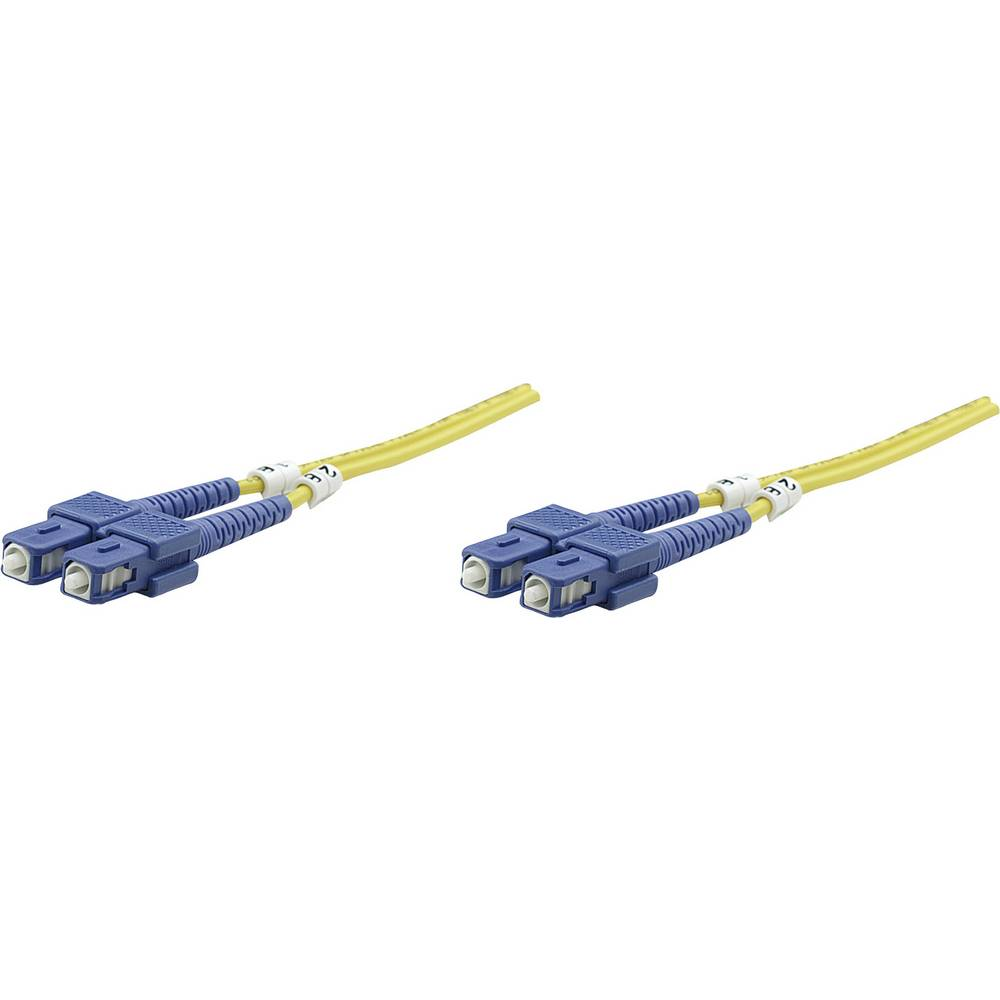 Priključni kabel iz optičnih vlaken [1x SC-vtič - 1x SC-vtič] 9/125µ enojni-način OS2 1 m Intellinet