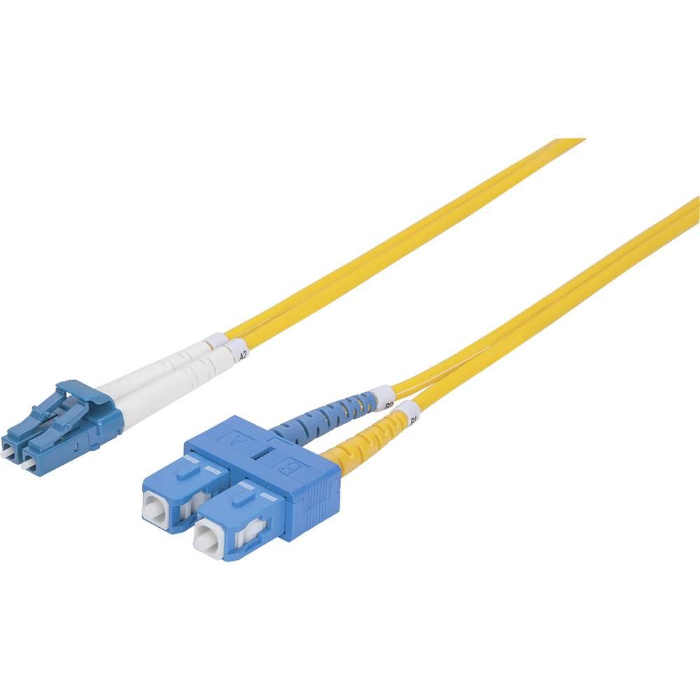Priključni kabel iz optičnih vlaken [1x LC-vtič - 1x SC-vtič] 9/125µ enojni-način OS2 3 m Intellinet