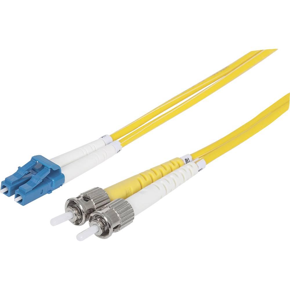 Priključni kabel iz optičnih vlaken [1x LC-vtič - 1x ST-vtič] 9/125µ enojni-način OS2 1 m Intellinet