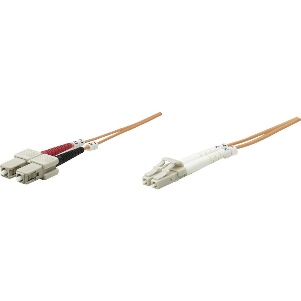 Priključni kabel iz optičnih vlaken [1x LC-vtič - 1x SC-vtič] 62,5/125µ multi-način OM1 5 m Intellinet