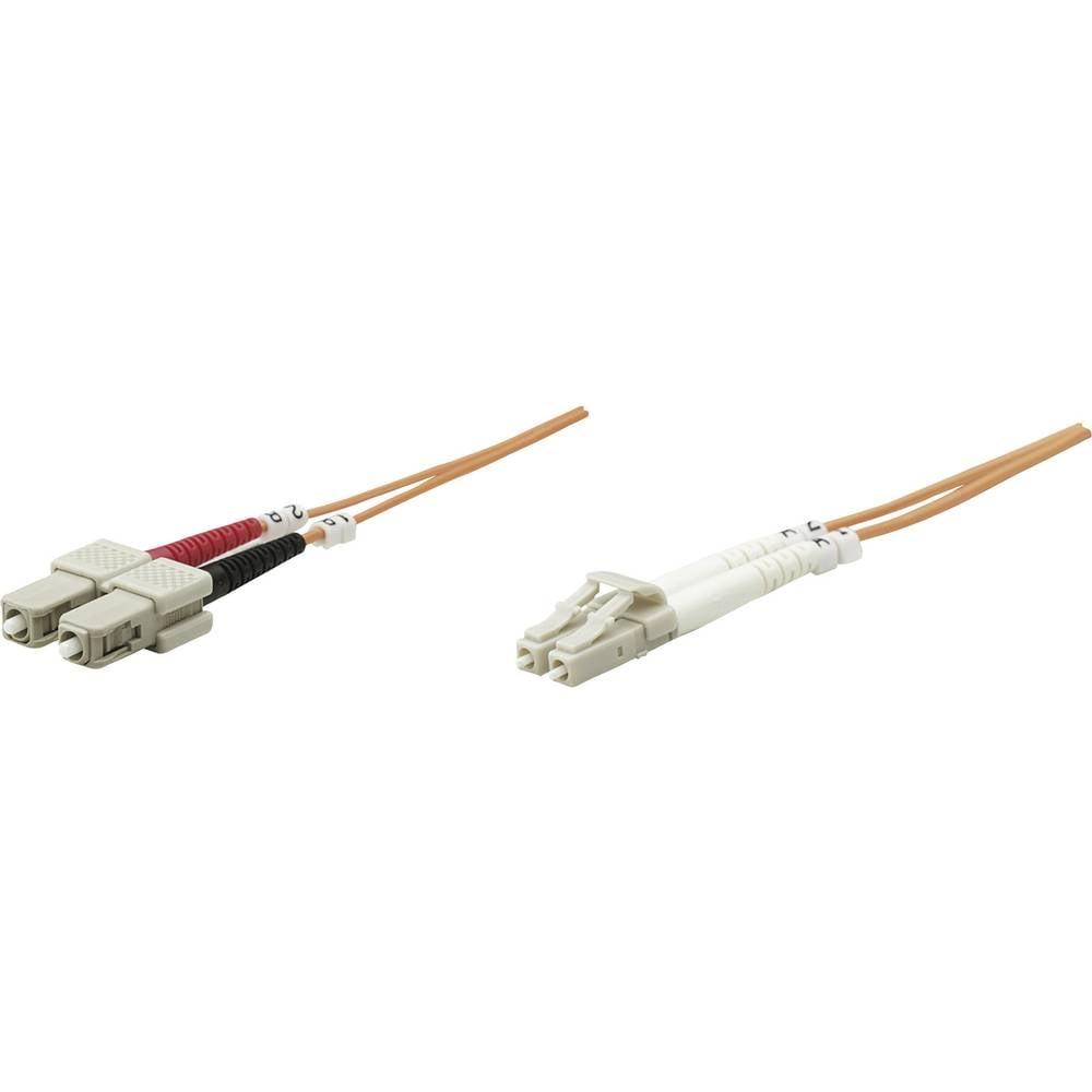 Priključni kabel iz optičnih vlaken [1x LC-vtič - 1x SC-vtič] 62,5/125µ multi-način OM1 20 m Intellinet